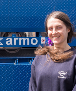 Becky | Armo UK | Meet The Team | Dock Levellers | Dock Shelters | Lifting Tables | Scissor Lifts